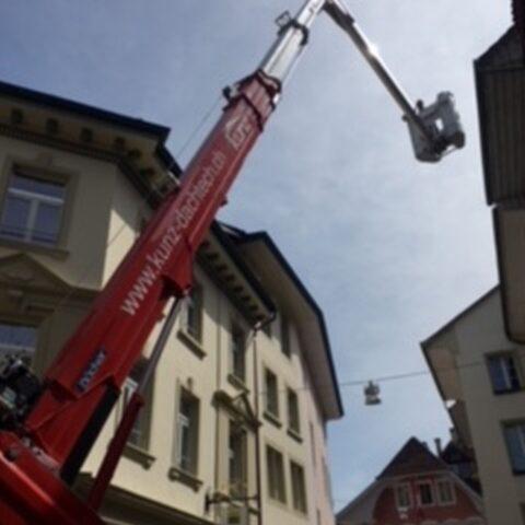 Kranarbeiten Zofinger Altstadt